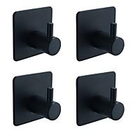 رخيصةأون -خطاف الروب اللصق التلقي معاصر / أنتيك الفولاذ المقاوم للصدأ 4PCS - حمام خاتم منشفة مثبت على الحائط