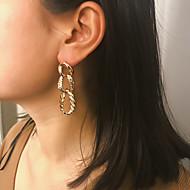 זול -בגדי ריקוד נשים עגילי טיפה עגיל עגילים תכשיטים זהב / כסף עבור Party יוֹם הַשָׁנָה קרנבל ליציאה פֶסטִיבָל זוג 1