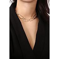 זול -בגדי ריקוד נשים שרשראות מחרוזת שרשרת זהב כסף 35.5 cm שרשראות תכשיטים 1pc עבור מתנה פגישה (דייט) רחוב יום הולדת פֶסטִיבָל