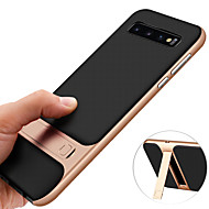 cheap -Case For Samsung Galaxy Galaxy S10 / Galaxy S10 Plus Shockproof / with Stand / Plating Back Cover Solid Colored Hard TPU for S9 / S9 Plus / S8 Plus