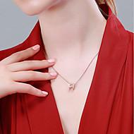 저렴한 -여성용 목걸이 로즈 골드 도금 S925 스털링 실버 단순한 고대 로마 로즈 골드 40+3 cm 목걸이 보석류 1 개 제품 선물 일상