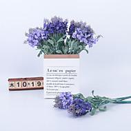cheap -Artificial Flowers 5 Branch Classic Stage Props European Lavender Eternal Flower Tabletop Flower