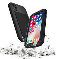 abordables -Coque Pour Apple iPhone XS / iPhone XR / iPhone XS Max Imperméable / Antichoc / Etanche à la Poussière Coque Intégrale Armure Dur Verre Trempé / Métal pour iPhone XS / iPhone XR / iPhone XS Max