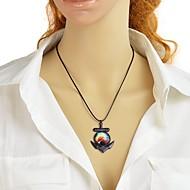 저렴한 -여성용 기하학적 인 팬던트 목걸이 돛대 패션 러블리 옐로우 45 cm 목걸이 보석류 1 개 제품 일상