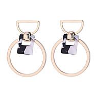 Χαμηλού Κόστους -Γυναικεία Γεωμετρική Κρίκοι Σκουλαρίκι θαυμαστής σκουλαρίκια Σκουλαρίκια Απλός Κορεάτικα Μοντέρνα Κοσμήματα Μαύρο / Πράσινο / Μπεζ / Λευκό Για Απόκριες Δρόμος Αργίες Δουλειά 1 Pair