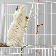 זול -Catnip אינטראקטיבי טיזר ידידותי לחיות מחמד צעצוע קריקטורה פרווה בול Sisal עבור חתולים