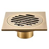 levne -podlahová odtoková kanalizace chladná země / starožitná mosaz 1pc - hotelová vana na podlaze