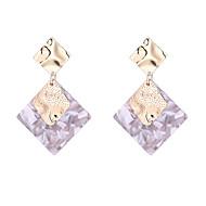 Χαμηλού Κόστους -Γυναικεία Γεωμετρική Σκουλαρίκι θαυμαστής σκουλαρίκια Σκουλαρίκια Απλός Ευρωπαϊκό Μοντέρνα Κοσμήματα Λευκό / Γκρίζο / Ροζ Για Απόκριες Δρόμος Αργίες Δουλειά Φεστιβάλ 1 Pair