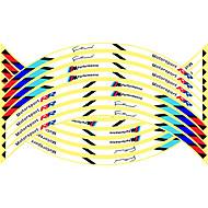 billige -16 stk nye 17/18/19 tommer motorcykel reflekterende hjul hub klistermærker auto decors hjul klistermærker på bil styling