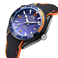 Χαμηλού Κόστους -Ανδρικά μηχανικό ρολόι Αυτόματο κούρδισμα καουτσούκ Μαύρο 50 m Ανθεκτικό στο Νερό Ημερολόγιο Νυχτερινή λάμψη Αναλογικό Μοντέρνα Πολύχρωμα - Πορτοκαλοκόκκινο Μπλε Ροζ