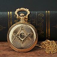 Χαμηλού Κόστους -Ανδρικά Ρολόι Τσέπης Χαλαζίας Χρυσό Καθημερινό Ρολόι Μεγάλο καντράν Αναλογικό Μοντέρνα Λεκτικό ρολόι - Χρυσό