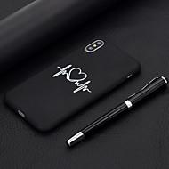 baratos -Capinha Para Apple iPhone XR / iPhone XS Max Áspero / Estampada Capa traseira Coração Macia TPU para iPhone XS / iPhone XR / iPhone XS Max