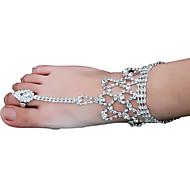 저렴한 -여성용 태슬 맨발 샌달 은 도금 단 패션 발찌 보석류 실버 제품 결혼식 파티 제전