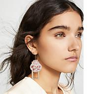 저렴한 -여성용 스터드 귀걸이 드랍 귀걸이 나무 쉘 귀걸이 자연적 열대의 보석류 골드 제품 결혼식 파티 일상 거리 작동 1 쌍