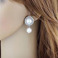 저렴한 -여성용 기하학적 인 드랍 귀걸이 모조 진주 귀걸이 낭만적 패션 보석류 화이트 제품 일상 1 쌍