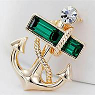 Χαμηλού Κόστους -Ανδρικά Καρφίτσες Άγκυρα Καρφίτσα Κοσμήματα Χρυσό Για Καθημερινά