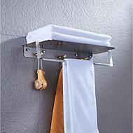 رخيصةأون -مجموعة اكسسوارات الحمام / خطاف الروب / رف الحمام تصميم جديد / كوول / متعددة الوظائف معاصر / أنتيك نحاس 1PC - حمام مزدوج / 3 منشفة بار مثبت على الحائط