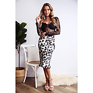 cheap -Women's Basic / Sophisticated Bodycon Skirts - Leopard