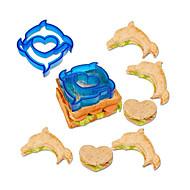זול -פלסטי עובש DIY חמוד Manual Creative מטבח גאדג'ט כלי מטבח כלי מטבח לקבלת סנדוויץ כלים חדישים למטבח חזיר 1pc