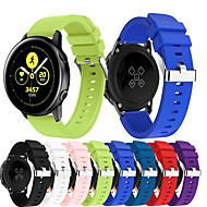 billige -Klokkerem til Gear Sport / Samsung Galaxy Watch 42 / Samsung Galaxy Active Samsung Galaxy Sportsrem Metall / Silikon Håndleddsrem