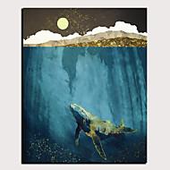 billige -Print Valset lærred Udskriv Strukket Lærred Print - Abstrakt Dyr Klassisk Moderne Kunsttryk