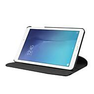 お買い得  -ケース 用途 Samsung Galaxy Tab E 9.6 360°ローテーション / 耐衝撃 / スタンド付き フルボディーケース ソリッド ハード PUレザー