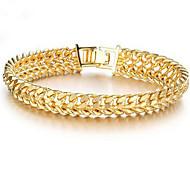 levne -Pánské Dámské Řetězové & Ploché Náramky 18K zlato plněné Šťastný stylové Náramky Šperky Zlatá Pro Dar Denní
