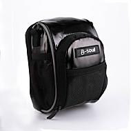 billige -B-SOUL 0.8 L Vesker til sykkelstyre Skulderveske Bærbar Holdbar Sykkelveske PU Leather Oxfordtøy Sykkelveske Sykkelveske Sykling Vei Sykkel Fjellsykkel Utendørs