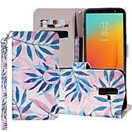 preiswerte -Hülle Für Samsung Galaxy Galaxy J6(2018) / Galaxy J7(2018) Geldbeutel / Kreditkartenfächer / mit Halterung Ganzkörper-Gehäuse Baum Hart PU-Leder für J8 (2018) / J7 (2017) / J7 (2018)