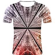 billige -T-skjorte Herre - Stripet / 3D / Grafisk, Trykt mønster Rock / overdrevet Svart XXL