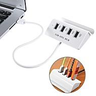 お買い得  -usb 3.1 type-c  -  4ポートusb 2.0 otgハブ、電話スタンドホルダー付きusb-c on-the-go(otg)ハブ(MacBookノートパソコン用タブレットおよび他のtype-cデバイス用)