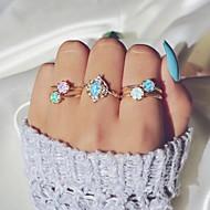 halpa -Naisten Monivärinen Opaali mieltymys Nail Finger Ring Sormusetti Midi Ring Karkki Makea Värikäs Muotisormukset Korut Kulta Käyttötarkoitus Party Lahja 8 5pcs