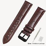 זול -עור אמיתי / קרוקודיל צפו בנד רצועה ל שחור / חום 18cm / 7 אינצ'ים / 19cm / 7.48 אינצ'ים 1.6cm / 0.6 אינצ'ים / 1.8cm / 0.7 אינצ'ים / 1.9cm / 0.75 אינצ'ים