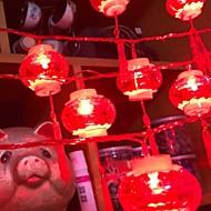economico -6 * 4m Fili luminosi 20 LED Rosso Decorativo Ad energia solare 1 set