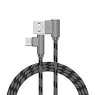billige -Mikro USB محول / Kabel 2,0m (6.5Ft) Flettet / Hurtig kostnad Aluminium USB-kabeladapter Til Samsung / Huawei / LG
