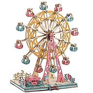 billige -Puslespill i tre Puslespill og logikkleker Pariserhjul Håndlavet Foreldre-barninteraksjon Tre 1 pcs Barne Voksne Alle Leketøy Gave
