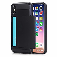 Case For Apple iPhone XR / iPhone XS Max Card Holder Back Cover Solid Colored Hard PU Leather for iPhone XS iPhone 8 Plus 8 iPhone 7 Plus 7 iPhone 6 Plus 6