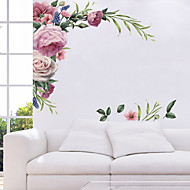 cheap -Beautiful Blooming Flowers Wall Stickers - Words &ampamp Quotes Wall Stickers Characters Study Room / Office / Dining Room / Kitchen