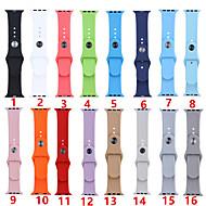abordables -bracelet smartwatch pour la série de montres apple 4/3/2/1 silicone bande de sport mode bracelet iwatch doux