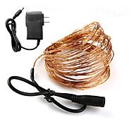 billige -loende ferie belysning dc cooper wire 10m fe lys med 12v 1a adapter jul nyttår bryllup dekorasjon lys