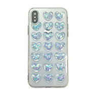 cheap -Case For Apple iPhone XS Max / iPhone 6 Pattern / Glitter Shine Back Cover Heart / Glitter Shine Soft TPU for iPhone XS / iPhone XR / iPhone XS Max
