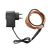 billige -LOENDE 5 m Lysslynger 50 LED Varm hvit / Hvit / Blå Vanntett / Fest / Dekorativ 100-240 V 1set