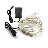 billige -Loende Holiday lights DC 10m Fairy lights 12V 1A adapter jul / nyttår / bryllup dekorasjon lys ledet stenger