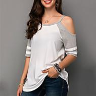 abordables -Tee-shirt Femme, Couleur Pleine Gris US4