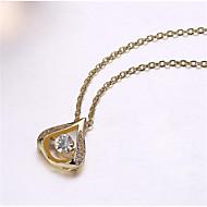 levne -Dámské Kubický zirkon Náhrdelníky s přívěšky Hruška Radost Módní Pozlacené Zlatá Bílá 45+6 cm Náhrdelníky Šperky 1ks Pro Dar Denní