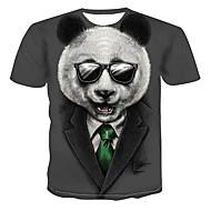 povoljno -Veći konfekcijski brojevi Majica s rukavima Muškarci Dnevni Nosite 3D Okrugli izrez Print Sive boje / Kratkih rukava