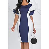 povoljno -ženska do koljena haljina za tijelo bodycon ljubičasta crvena plava s m l xl