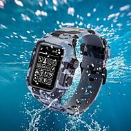 baratos -caso com banda para maçã relógio série 4/3/2/1 silicone / tpu compatibilidade maçã