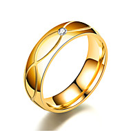 Men's / Women's Band Ring / Ring / Tail Ring 1pc Gold Stainless Steel / Titanium Steel Circular Basic / Fashion Gift / Daily Costume Jewelry
