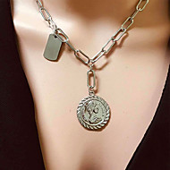 cheap -Women's Necklace Aluminum Silver 47.5 cm Necklace Jewelry 1pc For Daily School Street Holiday Festival